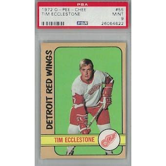 1972/73 O-Pee-Chee Hockey #55 Tim Ecclestone PSA 9 (Mint) *4622 (Reed Buy)