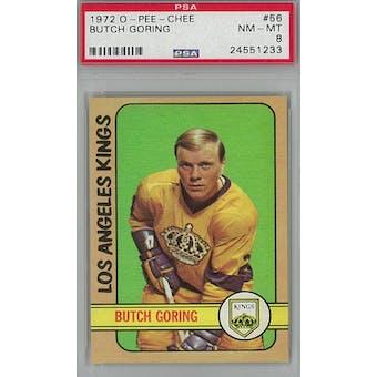 1972/73 O-Pee-Chee Hockey #56 Butch Goring PSA 8 (NM-MT) *1233 (Reed Buy)