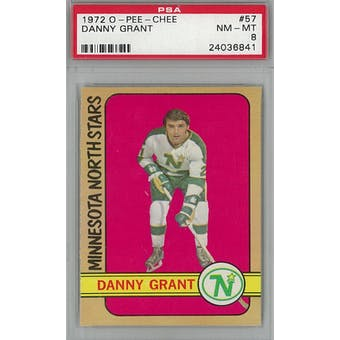 1972/73 O-Pee-Chee Hockey #57 Danny Grant PSA 8 (NM-MT) *6841 (Reed Buy)