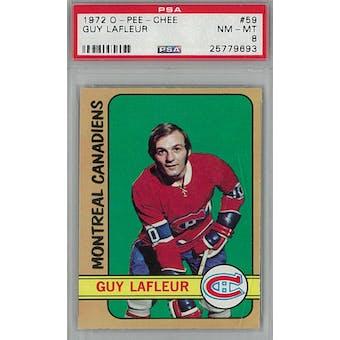 1972/73 O-Pee-Chee Hockey #59 Guy Lafleur PSA 8 (NM-MT) *9693 (Reed Buy)