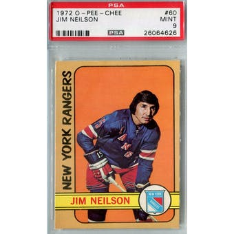 1972/73 O-Pee-Chee Hockey #60 Jim Neilson PSA 9 (Mint) *4626 (Reed Buy)