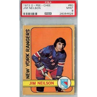 1972/73 O-Pee-Chee Hockey #60 Jim Neilson PSA 9 (Mint) *4626 (Reed Buy)