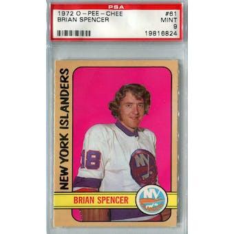 1972/73 O-Pee-Chee Hockey #61 Brian Spencer PSA 9 (Mint) *6824 (Reed Buy)
