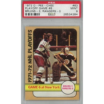 1972/73 O-Pee-Chee Hockey #63 Playoff Game #6 PSA 9 (Mint) *4384 (Reed Buy)