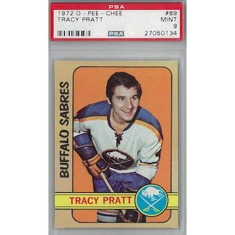 1972/73 O-Pee-Chee Hockey #69 Tracy Pratt PSA 9 (Mint) *0134 (Reed Buy)