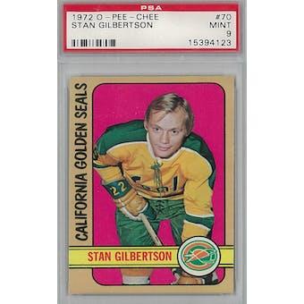 1972/73 O-Pee-Chee Hockey #70 Stan Gilbertson PSA 9 (Mint) *4123 (Reed Buy)