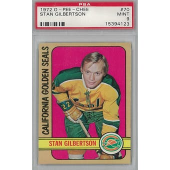 1972/73 O-Pee-Chee Hockey #70 Stan Gilbertson PSA 9 (Mint) *4123 (Reed Buy)