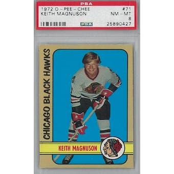 1972/73 O-Pee-Chee Hockey #71 Keith Magnuson PSA 8 (NM-MT) *0427 (Reed Buy)