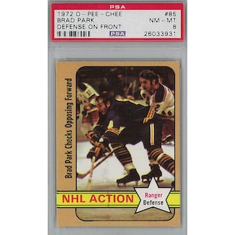 1972/73 O-Pee-Chee Hockey #85 Brad Park PSA 8 (NM-MT) *3931 (Reed Buy)
