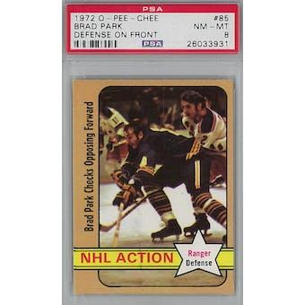 1972/73 O-Pee-Chee Hockey #85 Brad Park PSA 8 (NM-MT) *3931 (Reed Buy)
