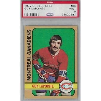 1972/73 O-Pee-Chee Hockey #86 Guy Lapointe PSA 9 (Mint) *0887 (Reed Buy)