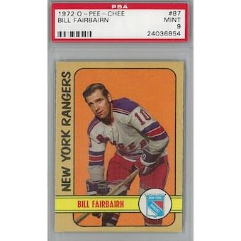 1972/73 O-Pee-Chee Hockey #87 Bill Fairbairn PSA 9 (Mint) *6854 (Reed Buy)