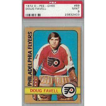 1972/73 O-Pee-Chee Hockey #89 Doug Favell PSA 9 (Mint) *2403 (Reed Buy)