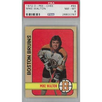 1972/73 O-Pee-Chee Hockey #94 Mike Walton PSA 8 (NM-MT) *0787 (Reed Buy)