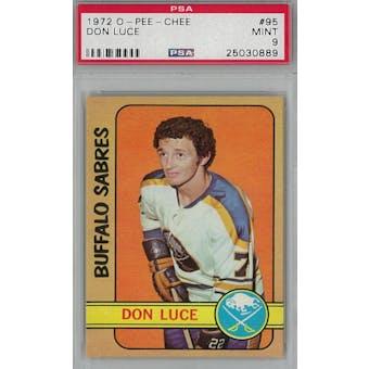 1972/73 O-Pee-Chee Hockey #95 Don Luce PSA 9 (Mint) *0889 (Reed Buy)