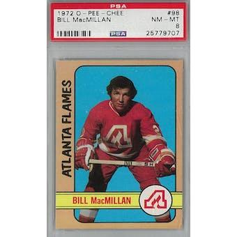 1972/73 O-Pee-Chee Hockey #98 Bill MacMillan PSA 8 (NM-MT) *9707 (Reed Buy)
