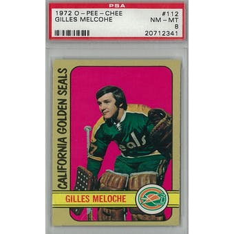 1972/73 O-Pee-Chee Hockey #112 Gilles Meloche RC PSA 8 (NM-MT) *2341 (Reed Buy)