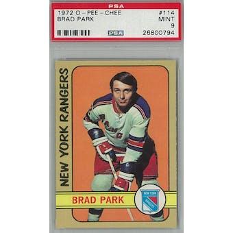 1972/73 O-Pee-Chee Hockey #114 Brad Park PSA 9 (Mint) *0794 (Reed Buy)