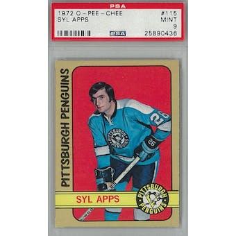 1972/73 O-Pee-Chee Hockey #115 Sly Apps PSA 9 (Mint) *0436 (Reed Buy)