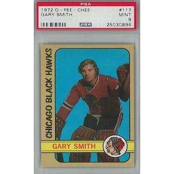 1972/73 O-Pee-Chee Hockey #117 Gary Smith PSA 9 (Mint) *0894 (Reed Buy)