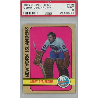 1972/73 O-Pee-Chee Hockey #119 Gerry Desjardins PSA 9 (Mint) *9964 (Reed Buy)