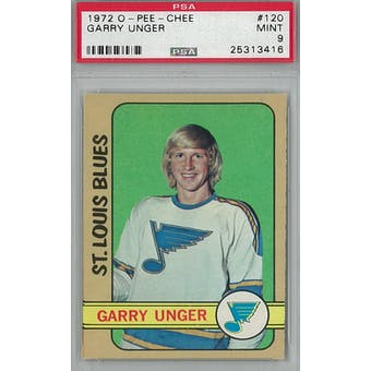1972/73 O-Pee-Chee Hockey #120 Garry Unger PSA 9 (Mint) *3416 (Reed Buy)