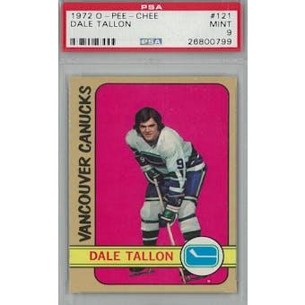 1972/73 O-Pee-Chee Hockey #121 Dal Tallon PSA 9 (Mint) *0799 (Reed Buy)