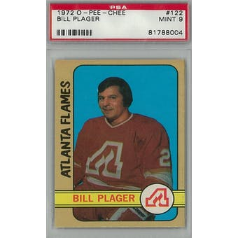1972/73 O-Pee-Chee Hockey #122 Bill Plager PSA 9 (Mint) *8004 (Reed Buy)