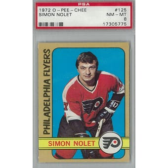1972/73 O-Pee-Chee Hockey #125 Simon Nolet PSA 8 (NM-MT) *5775 (Reed Buy)