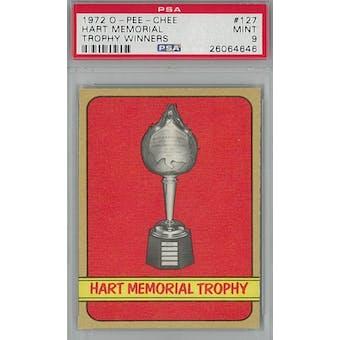 1972/73 O-Pee-Chee Hockey #127 Hart Memorial Trophy Winners PSA 9 (Mint) *4646 (Reed Buy)