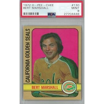 1972/73 O-Pee-Chee Hockey #130 Bert Marshall PSA 9 (Mint) *4446 (Reed Buy)