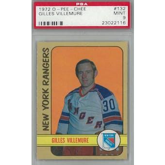 1972/73 O-Pee-Chee Hockey #132 Gilles Villemure PSA 9 (Mint) *2116 (Reed Buy)