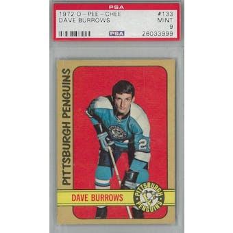 1972/73 O-Pee-Chee Hockey #133 Dave Burrows PSA 9 (Mint) *3999 (Reed Buy)