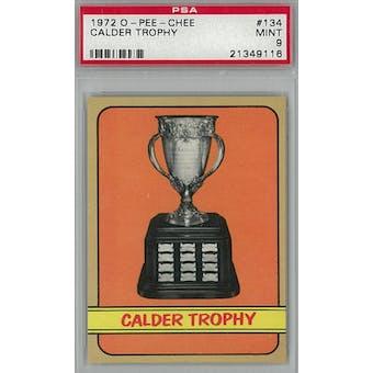 1972/73 O-Pee-Chee Hockey #134 Calder Trophy Winners PSA 9 (Mint) *9116 (Reed Buy)
