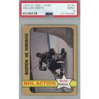 1972/73 O-Pee-Chee Hockey #135 Dallas Smith PSA 9 (Mint) *4445 (Reed Buy)