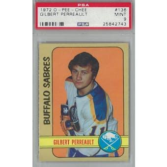 1972/73 O-Pee-Chee Hockey #136 Gilbert Perreault PSA 9 (Mint) *2743 (Reed Buy)