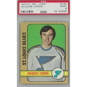 1972/73 O-Pee-Chee Hockey #140 Jacques Caron PSA 9 (Mint) *2558 (Reed Buy)