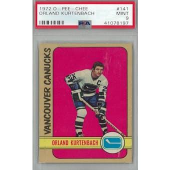 1972/73 O-Pee-Chee Hockey #141 Orland Kurtenbach PSA 9 (Mint) *8197 (Reed Buy)