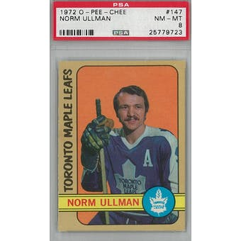 1972/73 O-Pee-Chee Hockey #147 Norm Ullman PSA 8 (NM-MT) *9723 (Reed Buy)