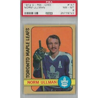 1972/73 O-Pee-Chee Hockey #147 Norm Ullman PSA 8 (NM-MT) *9723 (Reed Buy)