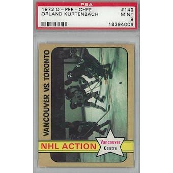 1972/73 O-Pee-Chee Hockey #149 Orland Kurtenbach PSA 9 (Mint) *4008 (Reed Buy)