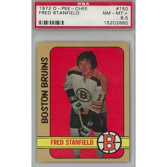 1972/73 O-Pee-Chee Hockey #150 Fred Stanfield PSA 8.5 (NM-MT+) *2860 (Reed Buy)
