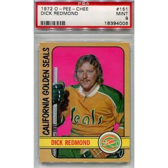 1972/73 O-Pee-Chee Hockey #151 Dick Redmond PSA 9 (Mint) *4006 (Reed Buy)