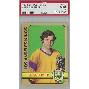 1972/73 O-Pee-Chee Hockey #152 Serge Bernier PSA 9 (Mint) *2563 (Reed Buy)