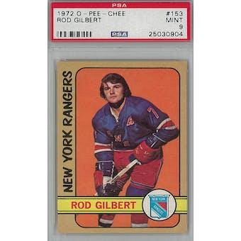 1972/73 O-Pee-Chee Hockey #153 Rod Gilbert PSA 9 (Mint) *0904 (Reed Buy)