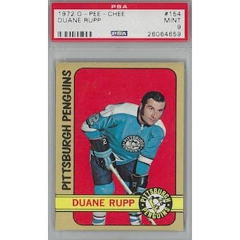 1972/73 O-Pee-Chee Hockey #154 Duane Rupp PSA 9 (Mint) *4659 (Reed Buy)