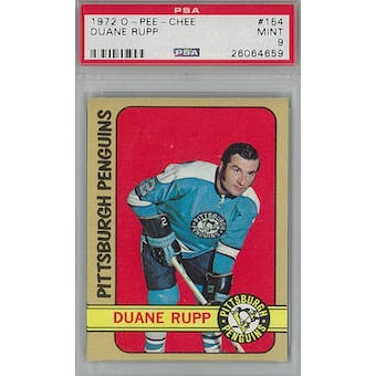 1972/73 O-Pee-Chee Hockey #154 Duane Rupp PSA 9 (Mint) *4659 (Reed Buy)