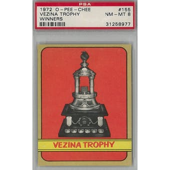 1972/73 O-Pee-Chee Hockey #155 Vezina Trophy Winners PSA 8 (NM-MT) *8977 (Reed Buy)