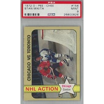 1972/73 O-Pee-Chee Hockey #156 Stan Mikita PSA 9 (Mint) *0826 (Reed Buy)