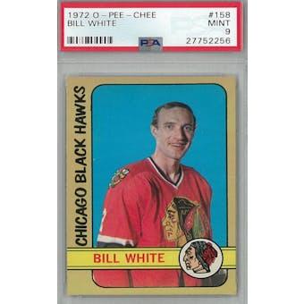 1972/73 O-Pee-Chee Hockey #158 Bill White PSA 9 (Mint) *2256 (Reed Buy)